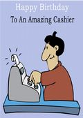 Cashier - Greeting Card